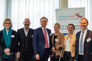 Spring Business Lunch 2019 with Serge Krancenblum (Executive Chairman at IQ-EQ), and Roman Lewszyk (CEO at Moventum), Artur Sosna (LPCC), Renata Plewniak (LPCC), Pia Libicka-Regulska (Embassy of Poland)